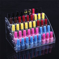 Wholesale Acrylic Clear View Assembled Cosmetics Nail Polish Lipstick Storage Orgonizer Display Stand Holder 5 Layers New