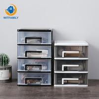 Mini Plastic Storage Box Transparent Desktop Storage Box Small Drawer Desk Storage Cabinet Cosmetic Storage Box