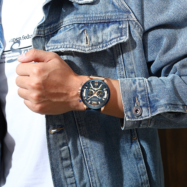 CURREN Luxury Brand Men Analog Leather Sports Watches Men's Army Military Watch Male Date Quartz Clock Relogio Masculino 2021 5