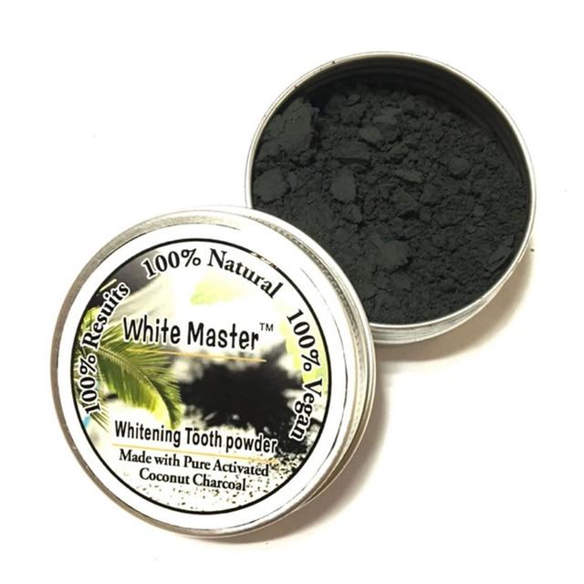15g polvo Blanqueador de dientes Natural orgánico carbón activado pasta de dientes Blanqueador Material Dental higiene bucal