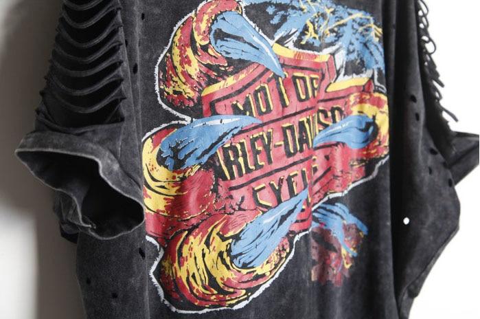 T-shirt Kvinder PLUS STØRRELSE Desigual Punk Rock Fashion Tops - Dametøj - Foto 3
