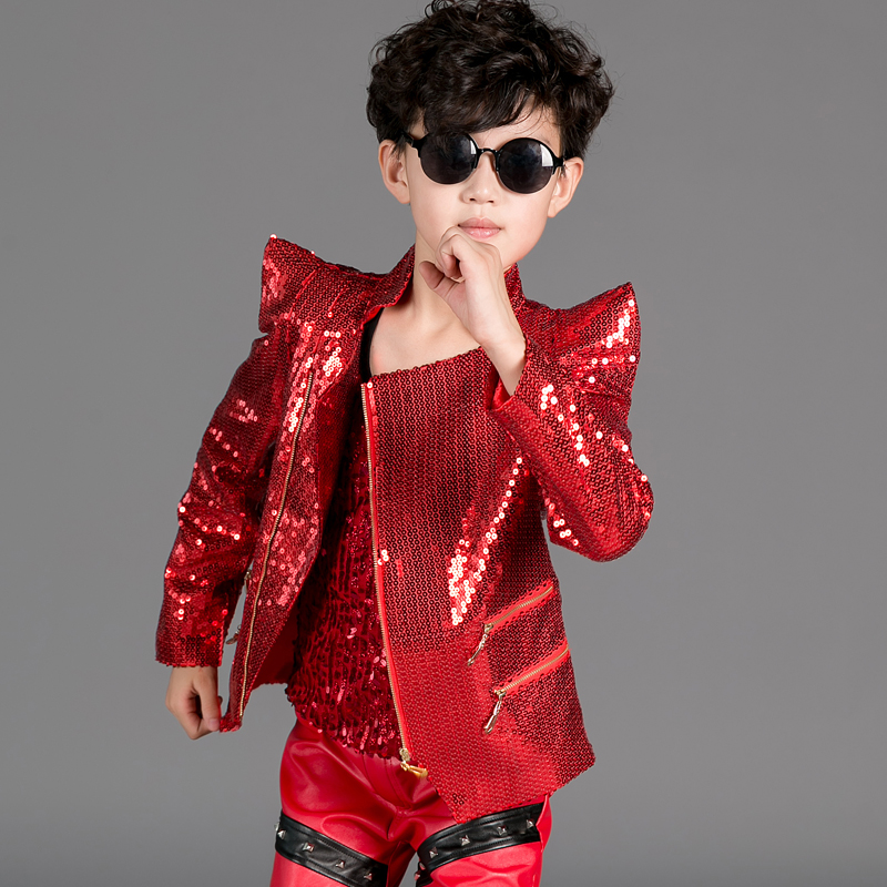 Children s clothing show children s clothing stars chorus clothing sequins dress shrug performance 3 - piece suit