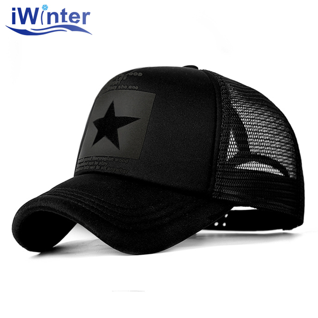 IWINTER 2018 Dropshipping Baseball Cap For Women Men Mesh Cap Snapback Hat Bone Adjustable Baseball Cap Hat Wholesale