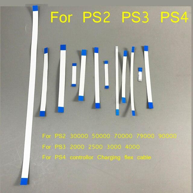20PcsสำหรับPS3 Slim 2000 2500 3000 4000 Powerรีเซ็ตสวิทช์สายเคเบิลFlex RibbonสำหรับPS4ชาร์จสำหรับPS2 79 77 75 70xxx 90000