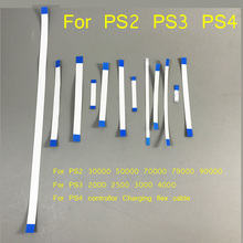 20pcs for PS3 slim 2000 2500 3000 4000 Power Reset Switch Ribbon Flex Cable for PS4 charging board for PS2 79 77 75 70xxx 90000