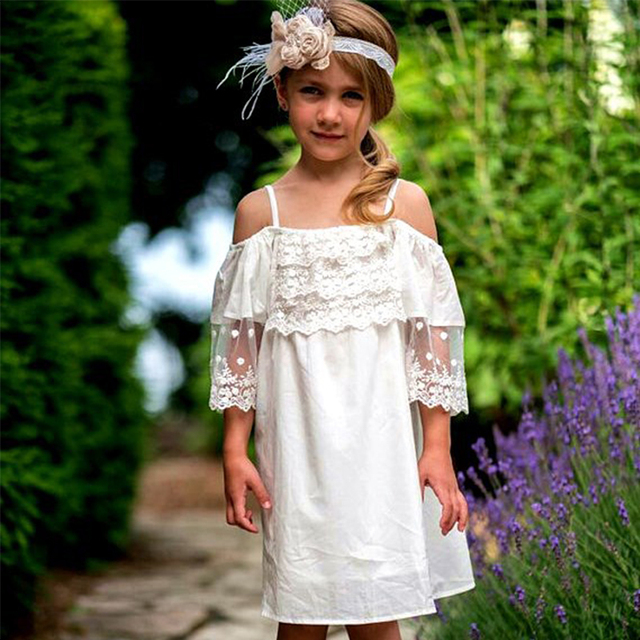 8633b0aa636 Sale Fashion Vestidos Cute Summer Girls Dress Solid Color Flare Sleeve Baby  Girl Clothes Party Princess Dresses Kids Clothing. Price