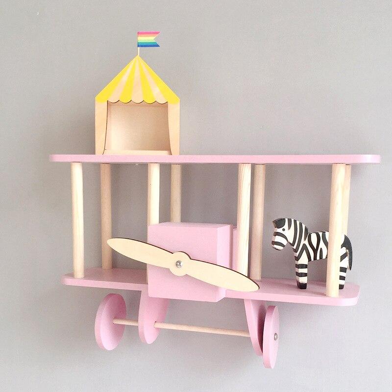 Nordique décoration de noël habitacion fille chambre décor enfants décor avion pendule réception boîte enfants étagère creative