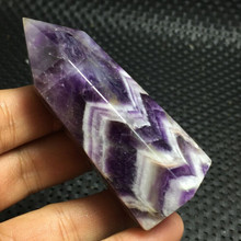 2019 hot 1pcs 75-80MM 100% Beautiful natural Dream amethyst point quartz crystal reiki healing Free shipping