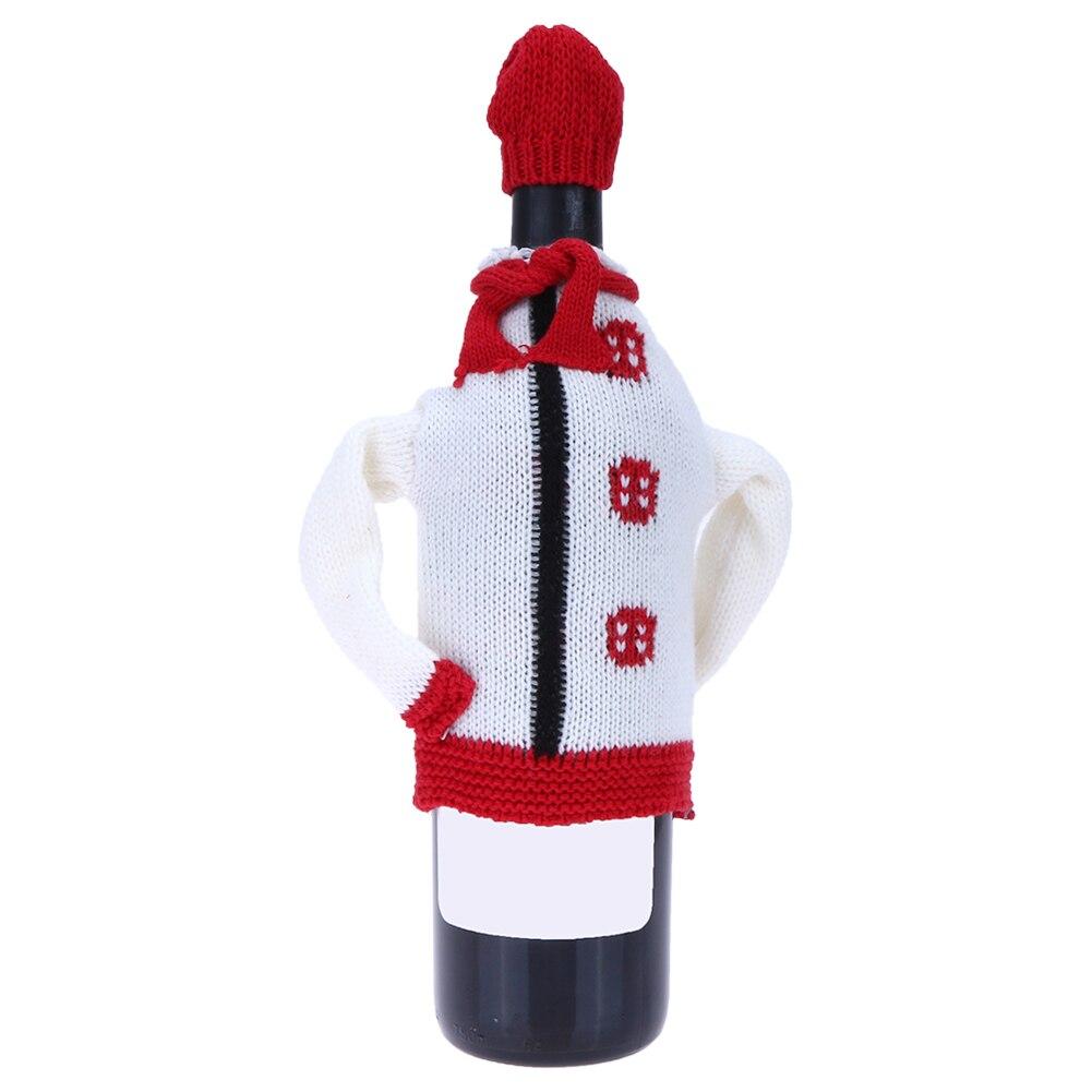 NºNavidad botella cubierta 16x11 cm tejer suéter botón ola Mesa ...