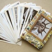 32 Uds. Póster Vintage tarjetas memoria postal conjunto tarjetas de felicitación Año Nuevo postales de regalo
