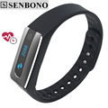 Senbono NFC Bluetooth 4.0 Smart band bracelet Heart Rate Monitor HB02 sleep tracker Wristband for IOS Android phone T30