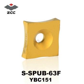 Original ZCC CT SPUB S-SPUB-63F YBC151 Tungsten Carbide Inserts for Steel Lathe Tools Cutter Turning Tool utensili tornio