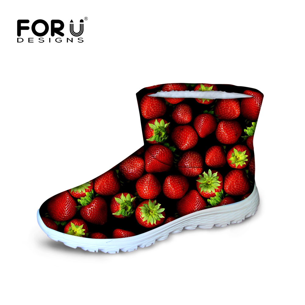 New high quality waterproof women winter boots strawberry warm snow ankle boots for ladies platform rain botas red zapatos femme only true love high quality women boots winter snow boots