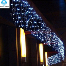 christmas outdoor decoration 5m Droop 0.4-0.6m curtain icicle string led lights 220V New year Garden Xmas Wedding Party