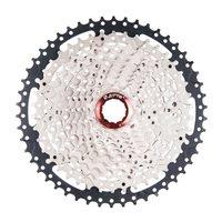 ZTTO 11 Speed Cassette 11 50T Compatible Road Bike Sram System High Tensile Steel Sprockets Folding Black Silver Gear
