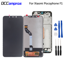 Original Display For Xiaomi Pocophone F1 LCD Display Touch Screen Digitizer For POCO F1 Screen LCD Display Repair Parts lcd screen display for mtg 32240j pg32241b p 32240j injection machine repair new original
