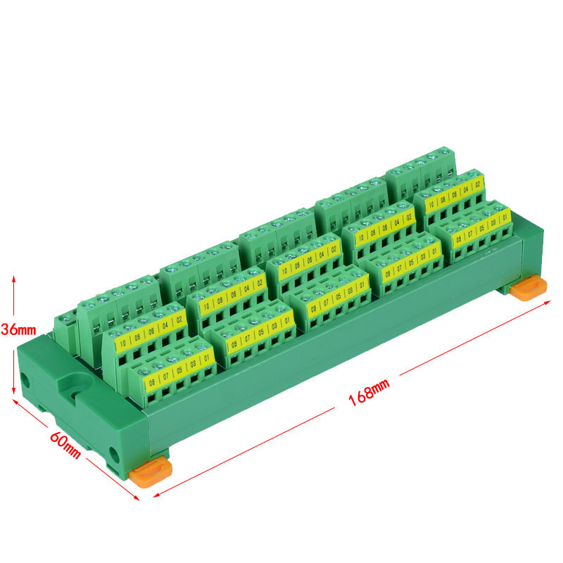 50 channels to 50 Channels DIN Rail Mounting board Panel Mounting for power supply distribution terminal