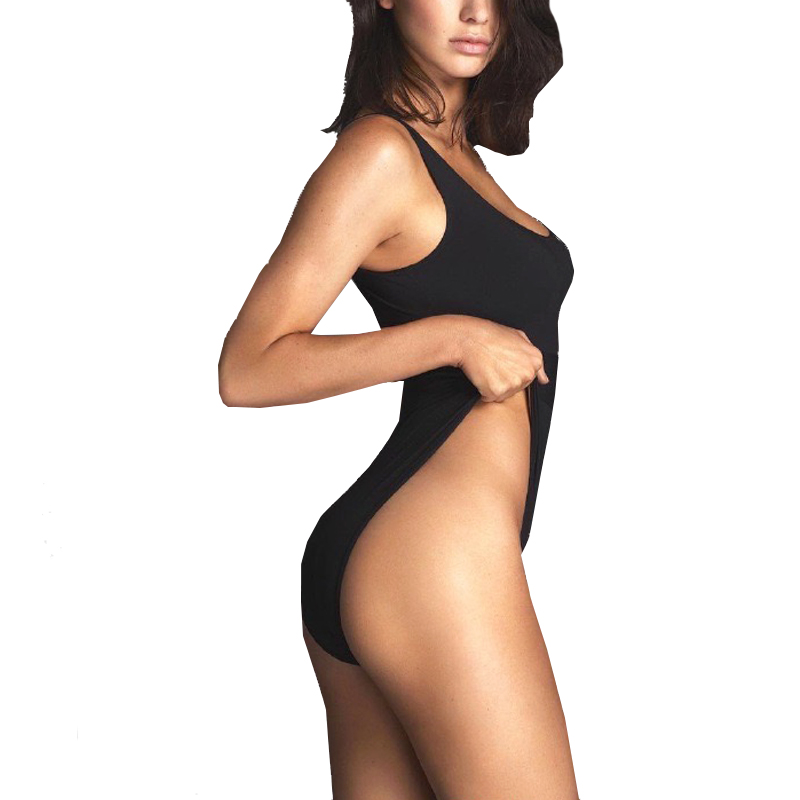1f0984b94 Big Sale Hot Sexy black bodysuit women Swimsuit Stretch sleeveless ...