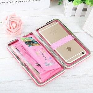 Image 2 - Women Clutch Wallet Leather Case for Xiaomi Mi 9 9T Pro 8 SE Redmi K20 Pro Note 7 CC9 CC9e Case Universal Cover Handbag Purse