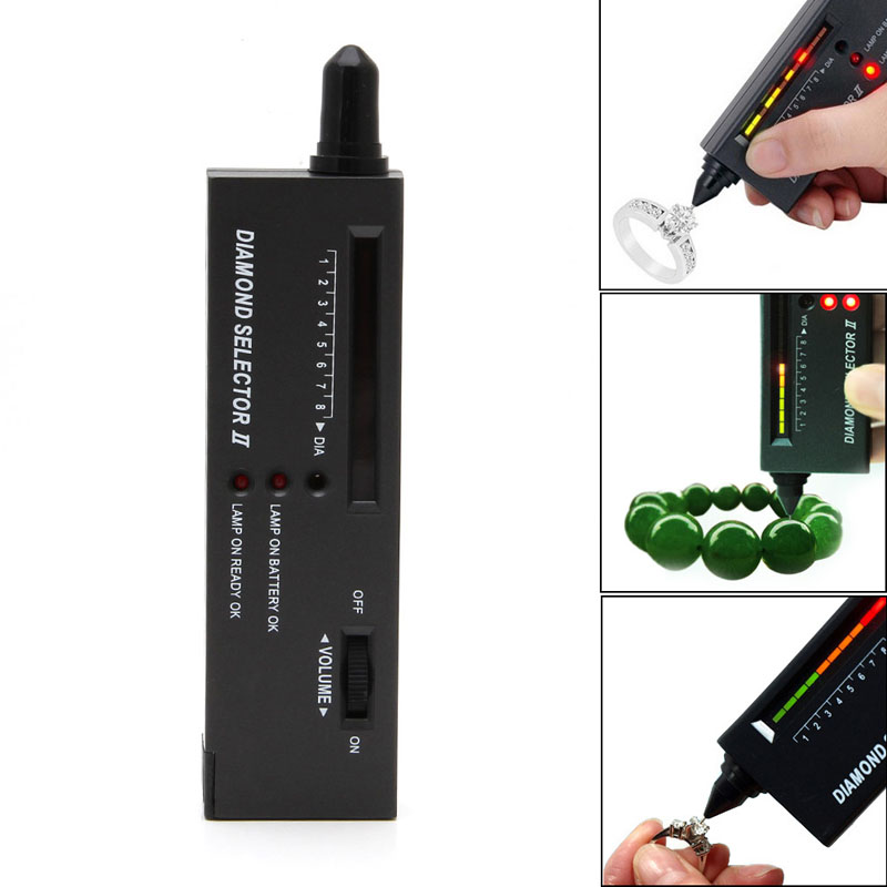 2018 Digital Accuracy Diamond Tester Selector Gemstone Detector Jewelry Testing Tool A14_20