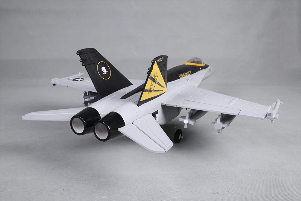 FMS 64mm F18 F-18 V2 Vigilantes Ducted Fan EDF Jet Grey Scale RC Airplane Modern Fighter Model Hobby Plane Aircraft Avion PNP