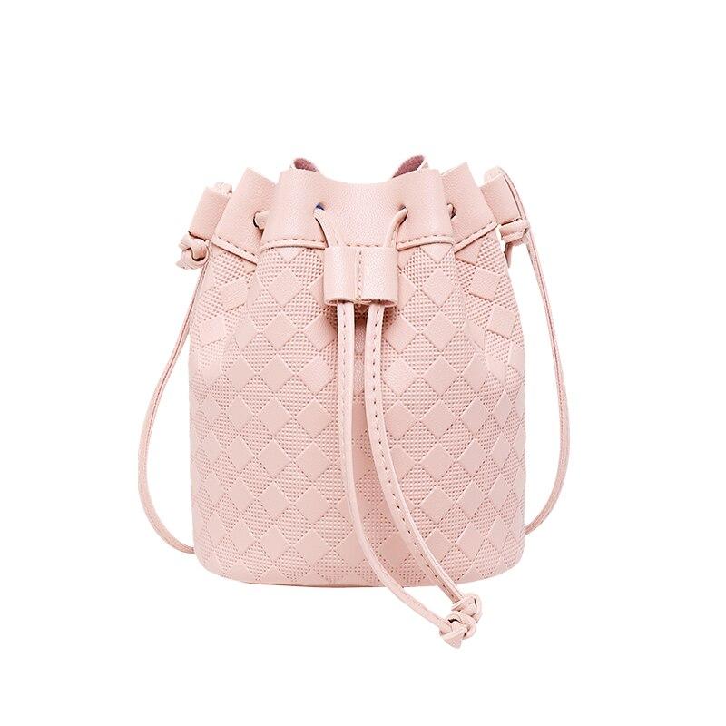 Women Bucket Bag Fashion Tassel Shoulder Mini woven bucket bag Messenger Bags Female Crossbody Totewomen