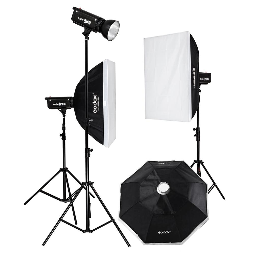 godox dp600w studio flash photography light studier set furniture photographic equipment godox 300w flash lamp photography light studier set shooting station set softbox photographic equipment set