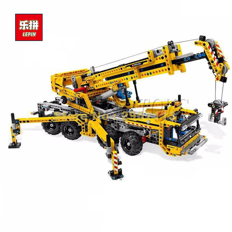 IN STOCK Lepin 20040 1392Pcs Technic Mechanical Series The Moving Crane Set Educational Building Blocks Bricks Toys Model Gift black pearl building blocks kaizi ky87010 pirates of the caribbean ship self locking bricks assembling toys 1184pcs set gift