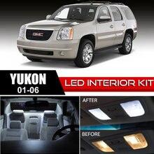 Free Shipping 18Pcs/Lot car-styling Xenon White Package Kit LED Interior Lights For 01-06 GMC Yukon