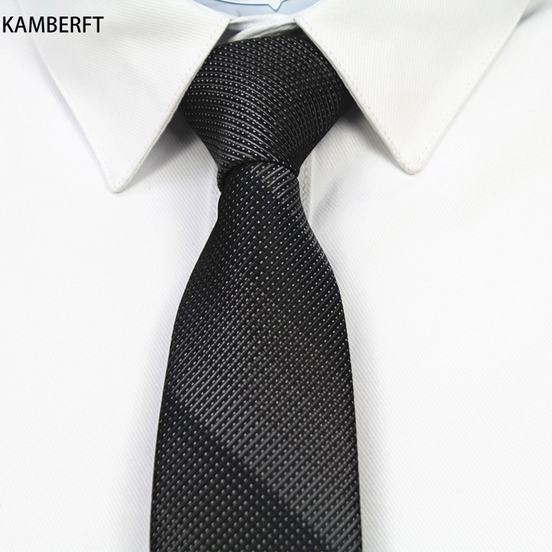Black Stripes Necktie Men Tie Polyester Gravata Slim Cravat Stropdas Cravatte Cravatta Cravate Pour Homme Corbatas Para Hombre