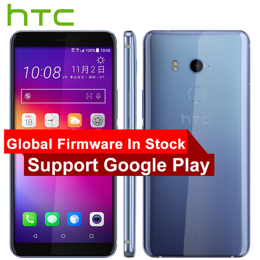 Hot Sale HTC U11 Plus U11+ 4G LTE Mobile Phone 6GB+128GB Snapdragon 835 Octa Core 6.0inch IP68 1440x2880P Android 8.0 Smartphone