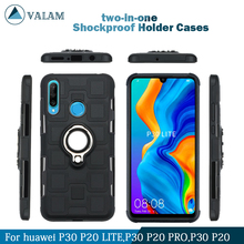 Shockproof Holder Cases Cover For Huawei P30 lite p20 Pro Luxury Magnetic Ring Case p30 case