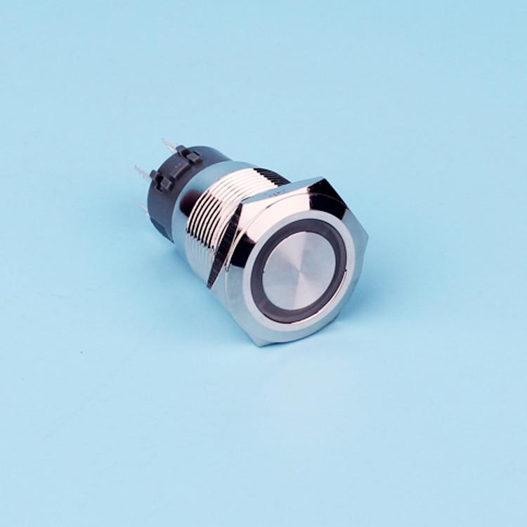 <font><b>19mm</b></font> 2NO 2NC momentary illuminated <font><b>led</b></font> lighted metal push button switch