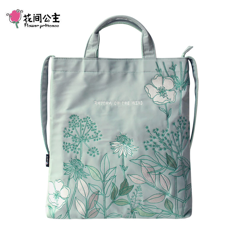 Flower Princess Woman Bags 2018 Shoulder Bag Women Original Design Embroidery Flower Shoulder Handbags Tote Bags for Women attractive splicing strapless flower embroidery women s corset