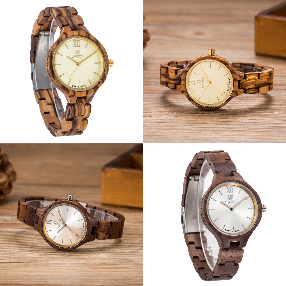 New Fashion Wood Watch Women WristWatch bracelet watches ladies Casual Wooden Watch for Girls Small and Simple display UW3007 fashion simple ladies fresh bracelet