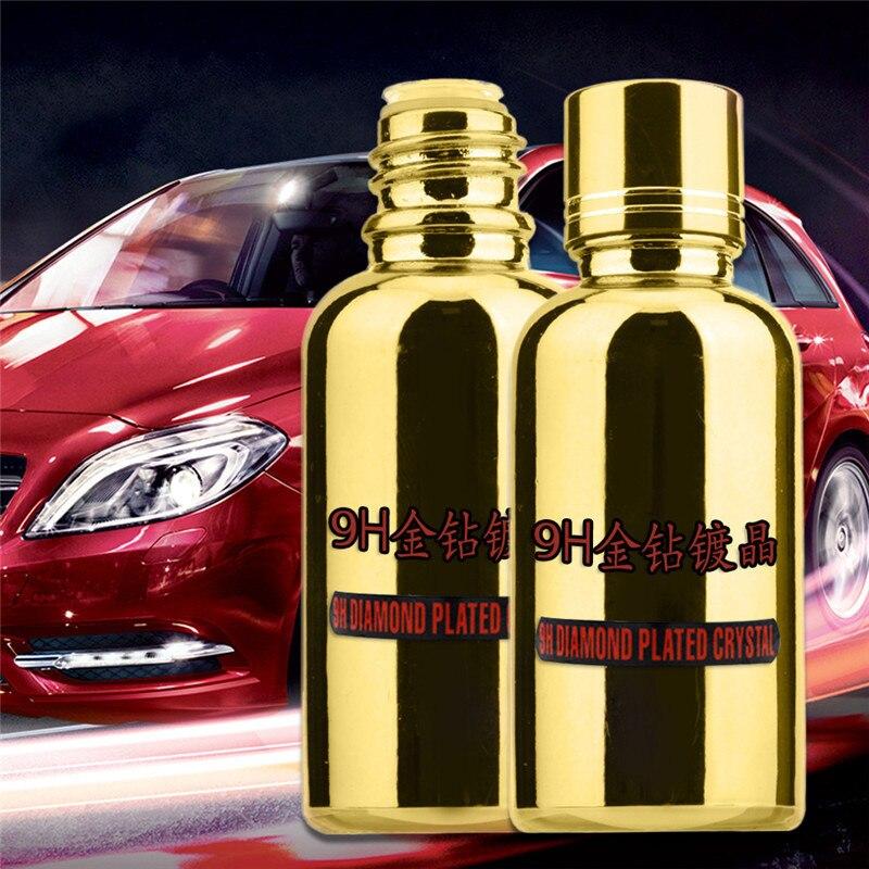 9 H Auto Liquido di Ceramica Cappotto Auto Detailing Glasscoat Utile Anti-graffio Auto Polacco Moto Vernice Cura In Oro bottiglia