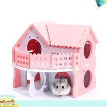 Милые клетки для маленьких животных, кролик, хомяк, дом, однослойный скейтборд, спиннинговое колесо, хомяк, мышка, клетка для домашних животных, дом