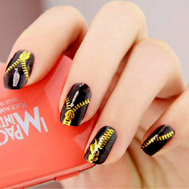 Nail Design Gold Stickers for Nails 3D Nail Stickers Water Decals Minx All  for Nails Design Everything for Manicure Nagel ZJ1049 - Nail Design Gold Stickers For Nails 3D Nail Stickers Water Decals