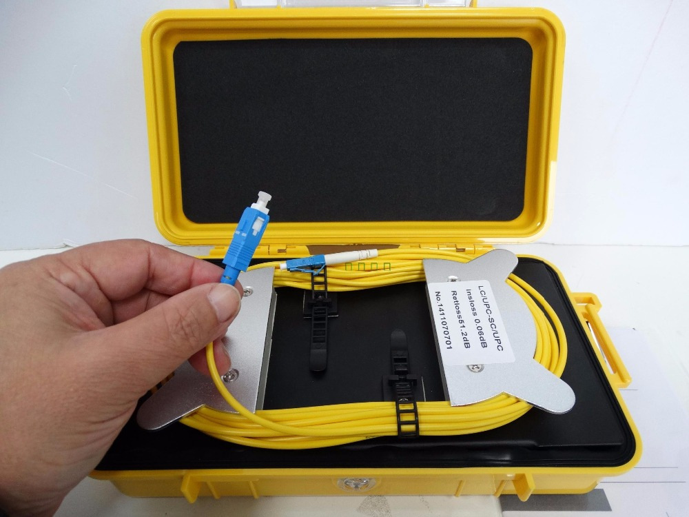 Fiber Optic OTDR Launch Cable Box Singlemode 9/125um 1km Connector Customized FC/SC/ST/LCFiber Optic OTDR Launch Cable Box Singlemode 9/125um 1km Connector Customized FC/SC/ST/LC