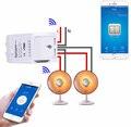 Itead Sonoff Dual Channel Wifi Smart Switch Inteligente para Smart Home Automation com Temporizador