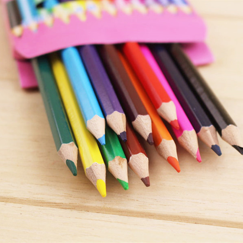 12 lapices de colores carton color lead graffiti painting