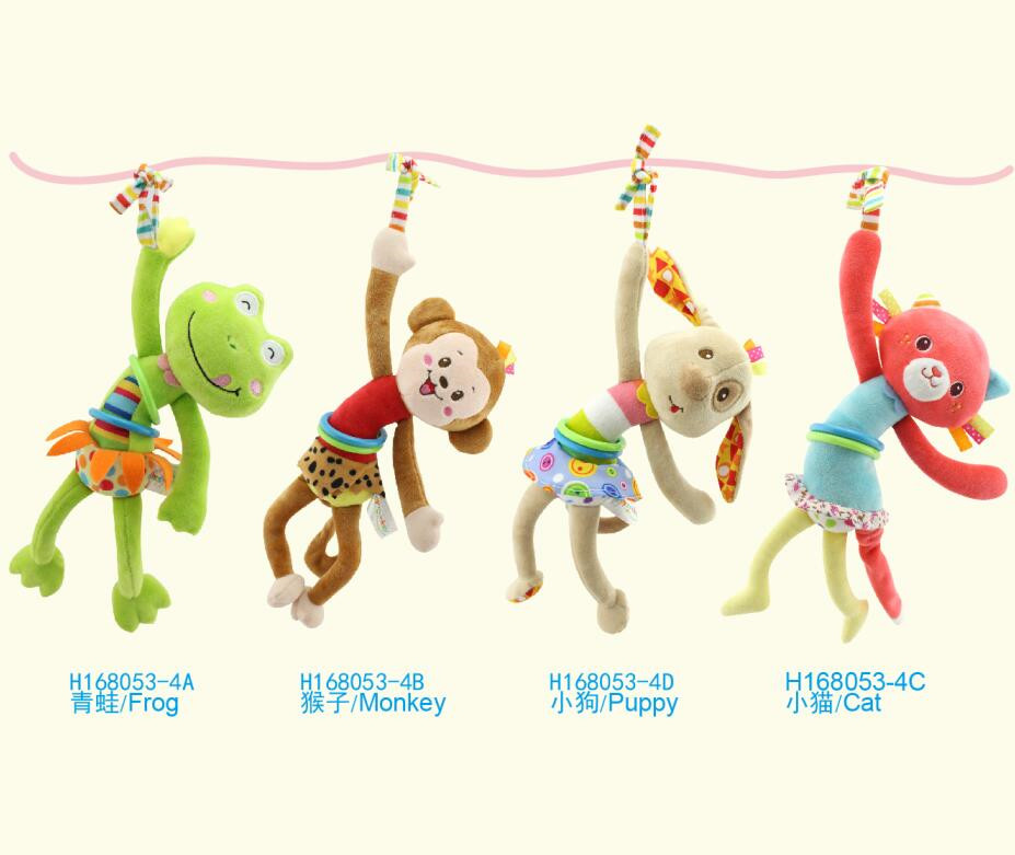 Infant educational toy animal trying to pull shock Crib lathe hanging bed rattles child lovely for gift 20%Off