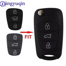 jingyuqin nowy zamiennik Rubber pad 3 przyciski Flip Car zdalnego klucza powłoki dla Hyundai i30 IX35 Kia K2 K5 etui na klucz tanie tanio Podkładka gumowa Chiny