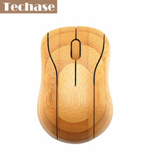 2016 New Arrival Bamboo Quality Wireless Mouse Creative Newest Mini PC/Laptop/Desktop 2.4Ghz USB Receiver Stock With Package