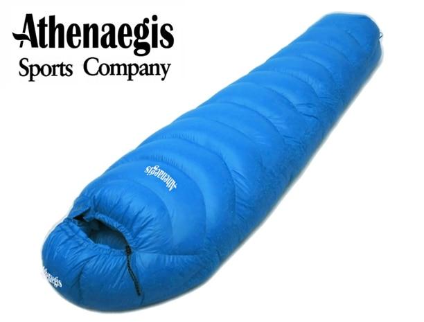 Athenaegis alta qualidade 3000G ganso branco para baixo de enchimento à prova d 'água ultraleve inverno quente saco de dormir