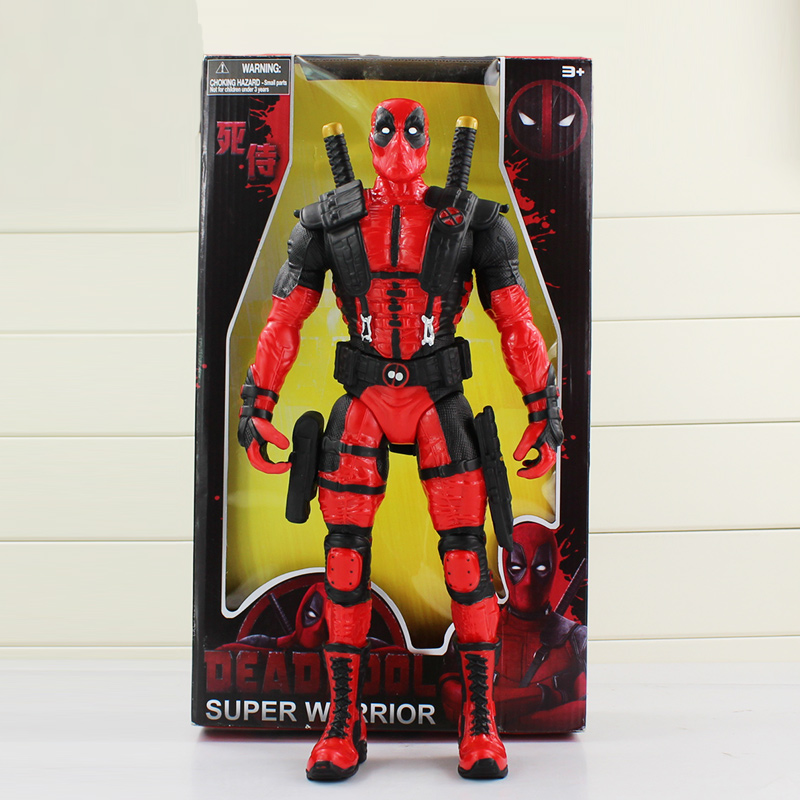 34cm Anime Super Hero Deadpool X-Men PVC Action Figure Toys Cool Model Doll GiftS For Kids Collection Model Toy attack on titan anime 17 cm mikasa ackerman battle version pvc anime figure collection doll model toy kids toys pm scene tw18
