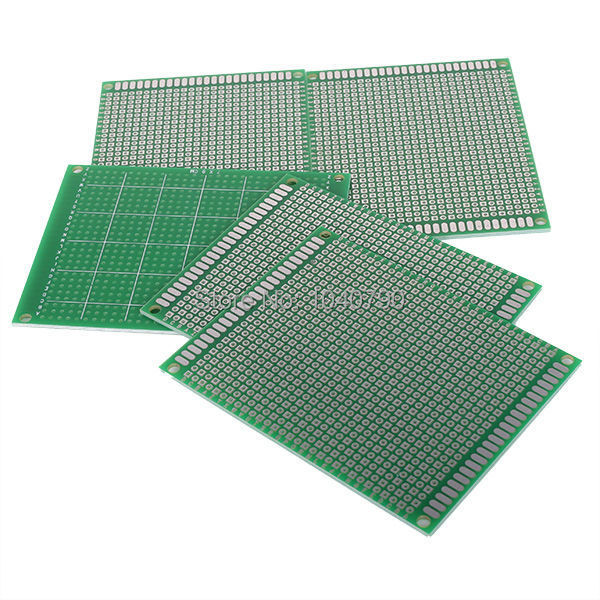 2PCS  9*15 Cm Single Side PCB Printed Circuit Board Prototyping FR-4 Glass Fiber Single Universal Circuit Board