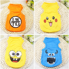 Summer Pet Dog Clothes for Small Coats Jacket Dogs Cats Clothing Chihuahua Cartoon Kawaii Costume