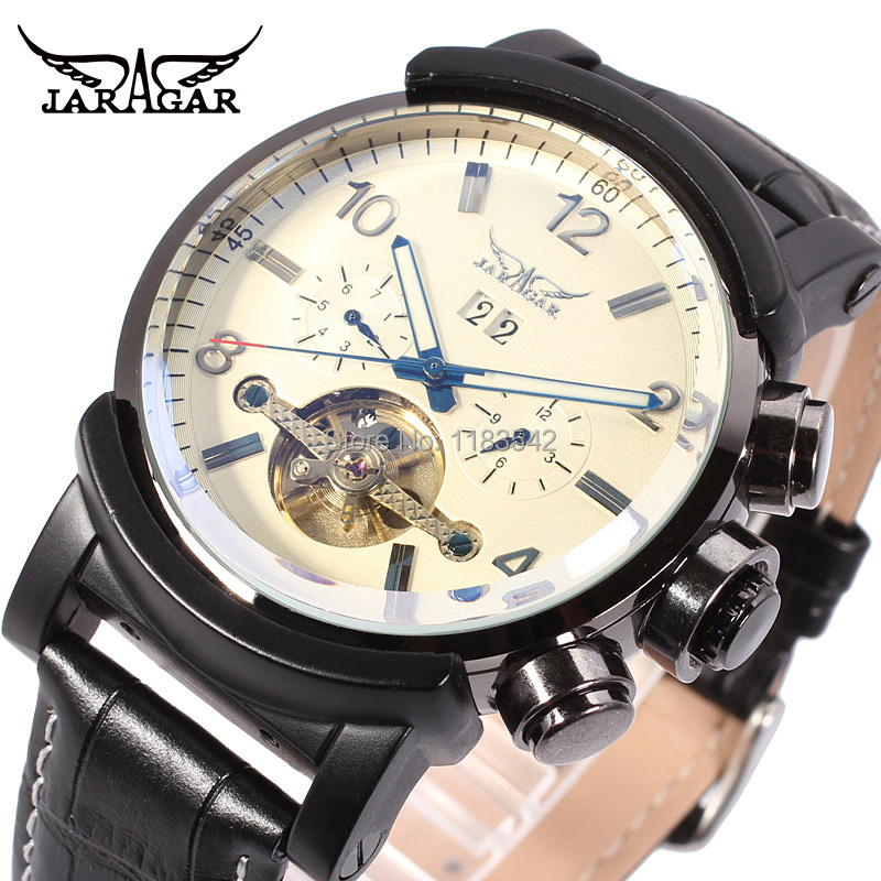 Jargar new Automatic men fashion tourbillon metal black color wristwatch free shipping JAG9405M3B2 все цены