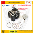 linhai atv quad buggy go kart FA-D300 H300 feishen buyang 300cc cylinder piston ring pin 72.5mm accessories free shipping